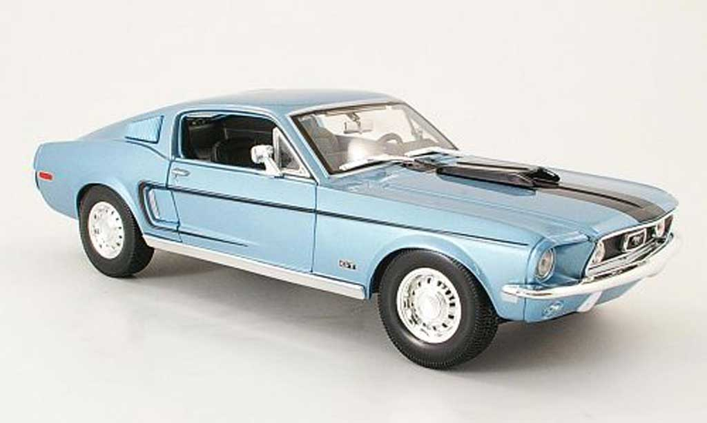 Ford Mustang 1968 1/18 Maisto gt cobra jet bleu/black diecast model cars