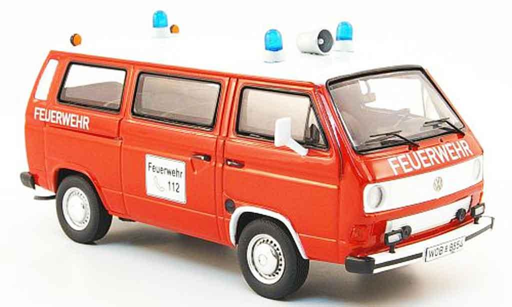 Volkswagen Combi 1/43 Premium Cls t3b bus pompier rouge blanche miniature