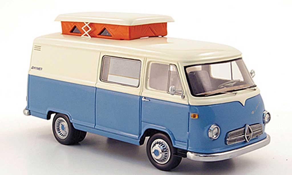 Borgward Hymer 1/43 Premium ClassiXXs Caravano bleu/cremeblanche miniature