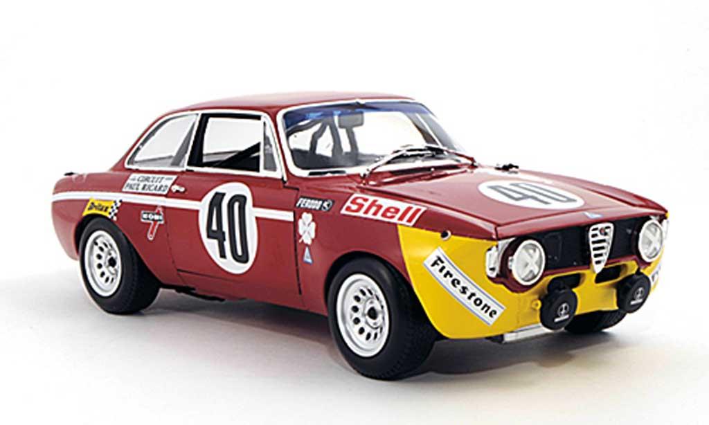 Alfa Romeo Giulia 1300 GTA 1/18 Minichamps Junior No.40 Picchi / Chassseuil 24h Paul Ricard 1971 diecast model cars