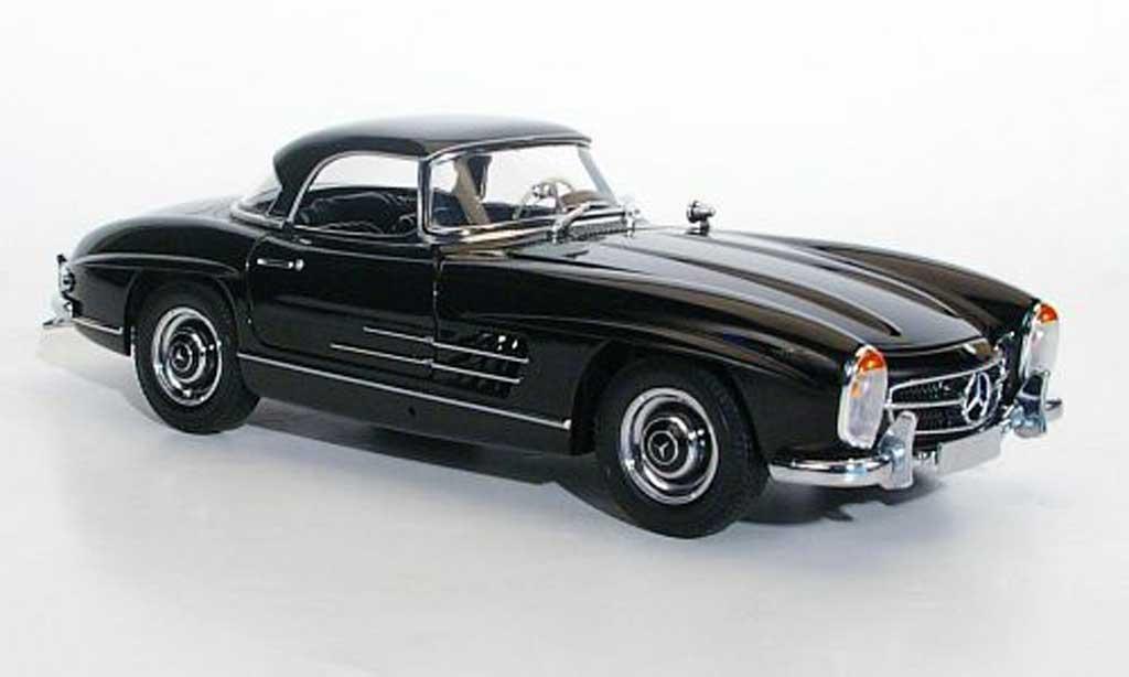 mercedes 300 sl roadster w198 ii hardtop black 1957 minichamps diecast model car 1 18 buy. Black Bedroom Furniture Sets. Home Design Ideas