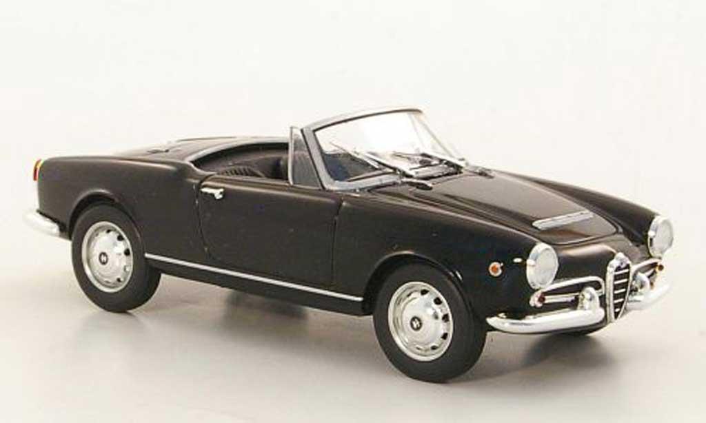 Alfa Romeo Spider 1962 1/43 Minichamps Giulia black diecast model cars