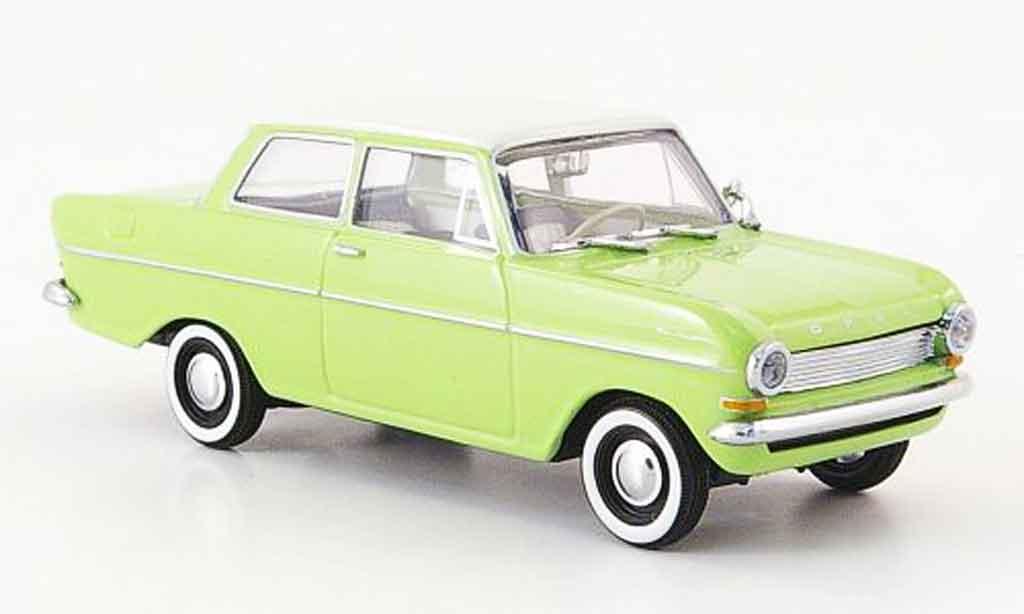 Opel Kadett A 1/43 Minichamps verte blanche 1962