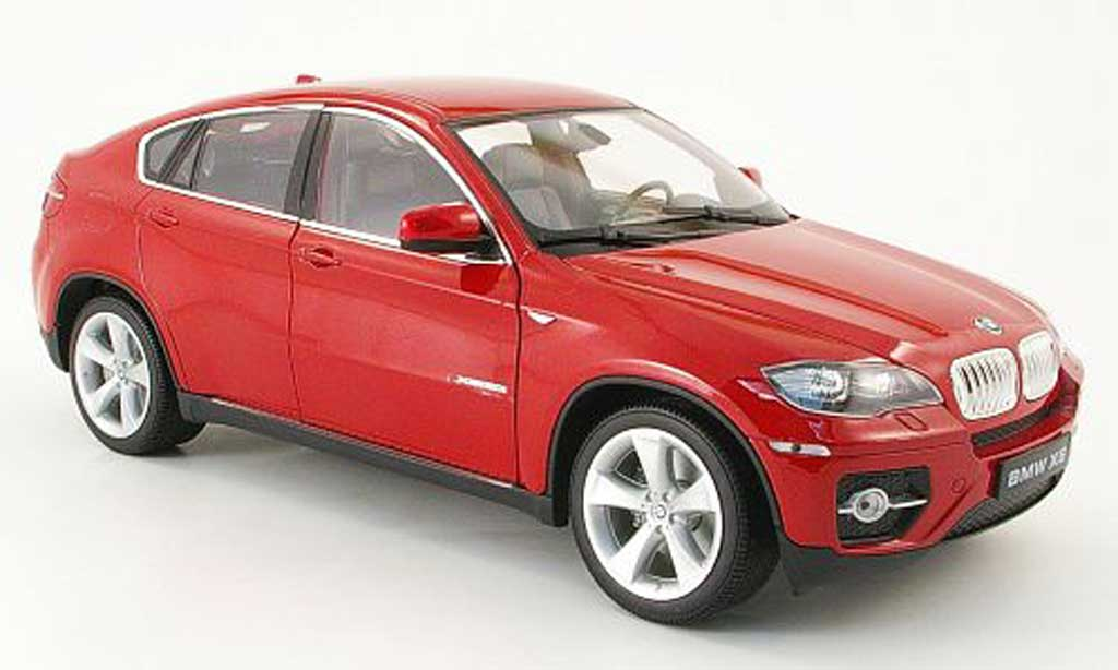 bmw x6 e71 miniature rouge welly 1 18 voiture. Black Bedroom Furniture Sets. Home Design Ideas