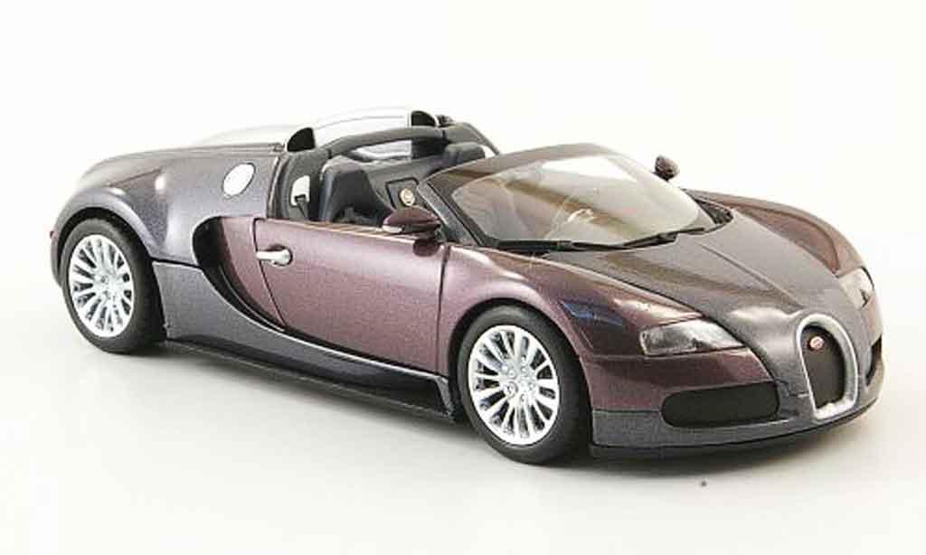 Bugatti Veyron Grand Sport 1/43 Minichamps grise violette 2009 miniature