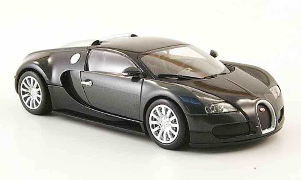 Bugatti Veyron 16.4 1/43 Minichamps grise noire 2009 miniature
