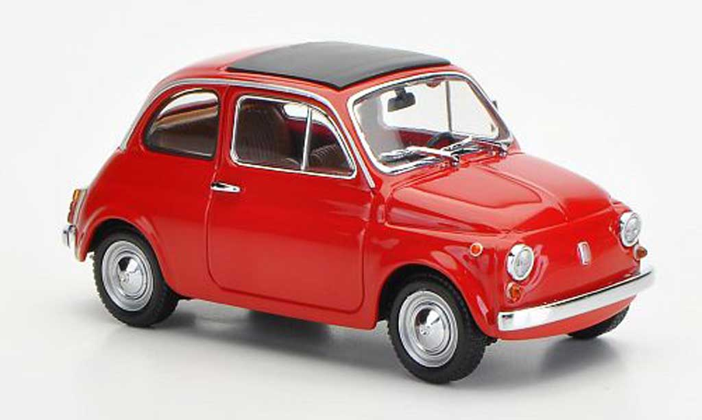 fiat 500 miniature rouge 1965 minichamps 1 43 voiture. Black Bedroom Furniture Sets. Home Design Ideas