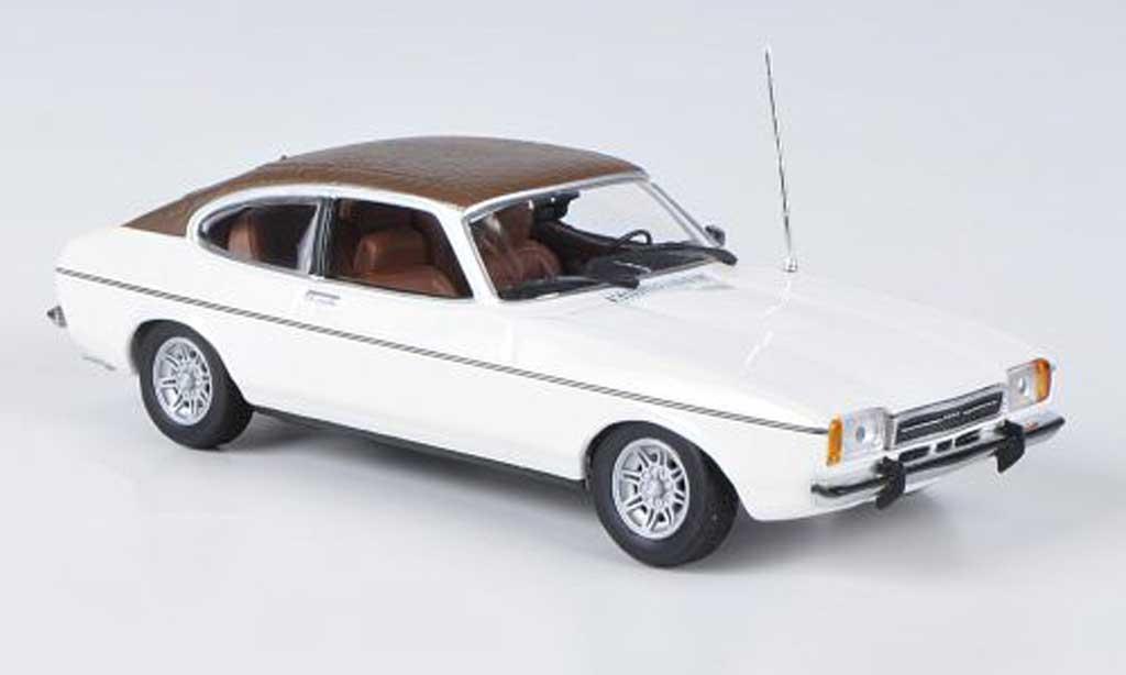 Ford Capri 1/43 Minichamps MKII blanche/marron 1974 miniature
