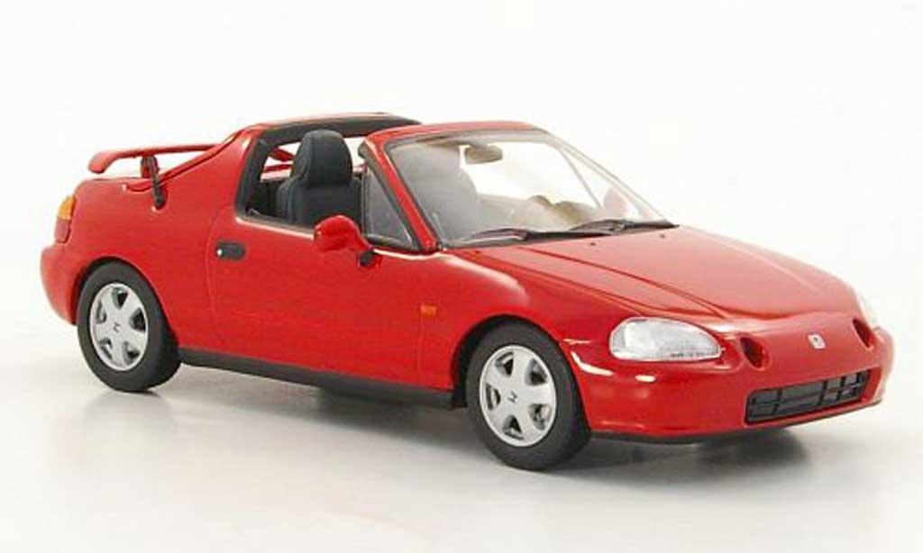 Honda CRX 1/43 Minichamps Del Sol rouge 1993 miniature