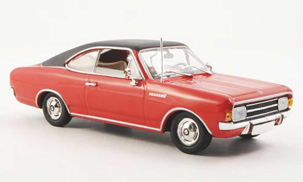 Opel Rekord 1/43 Minichamps C Coupe rouge/noire 1966 miniature