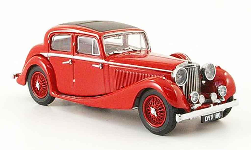 Jaguar SS 1/43 Oxford 2.5 saloon rouge miniature