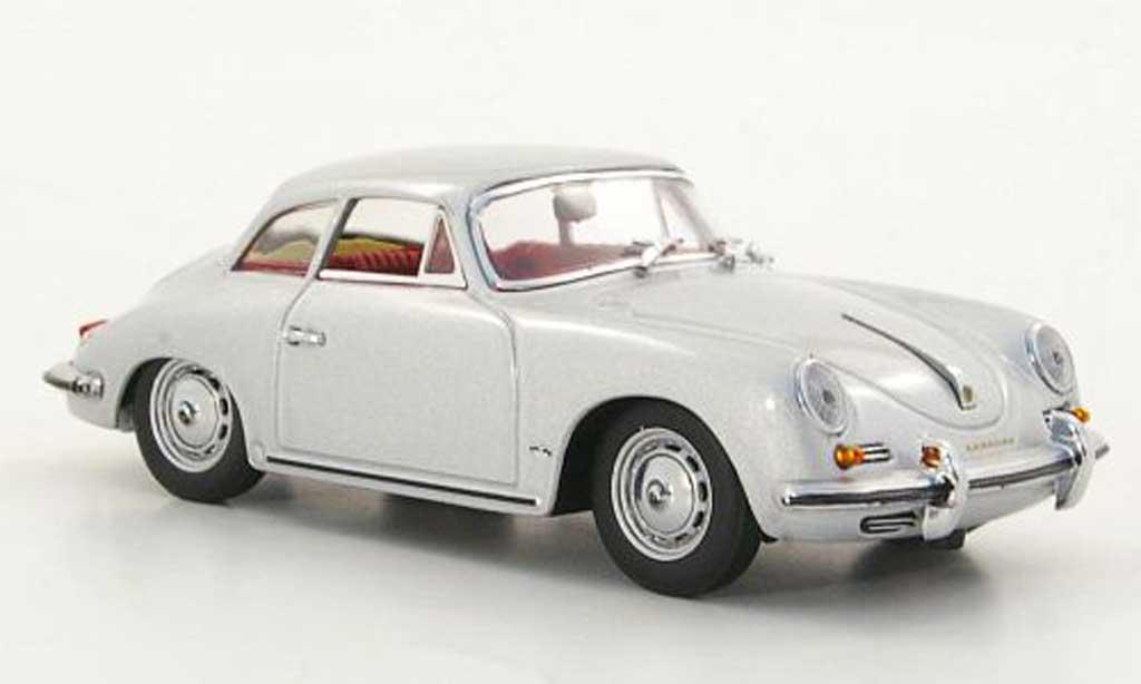 Porsche 356 1960 1/43 Minichamps B Hardtop Coupe grise miniature