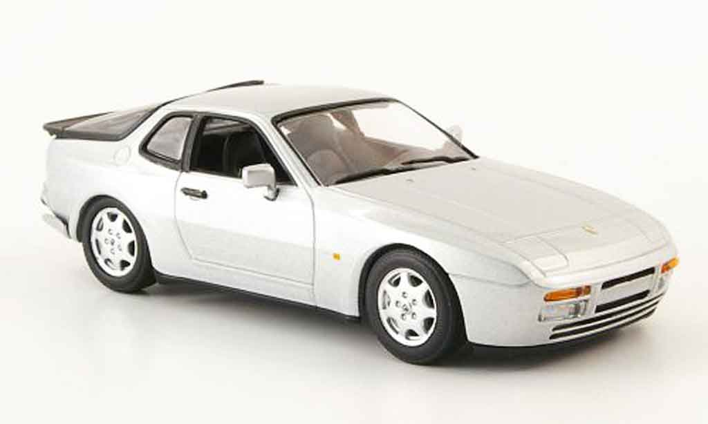 Porsche 944 1989 1/43 Minichamps S2 grey metallisee diecast model cars