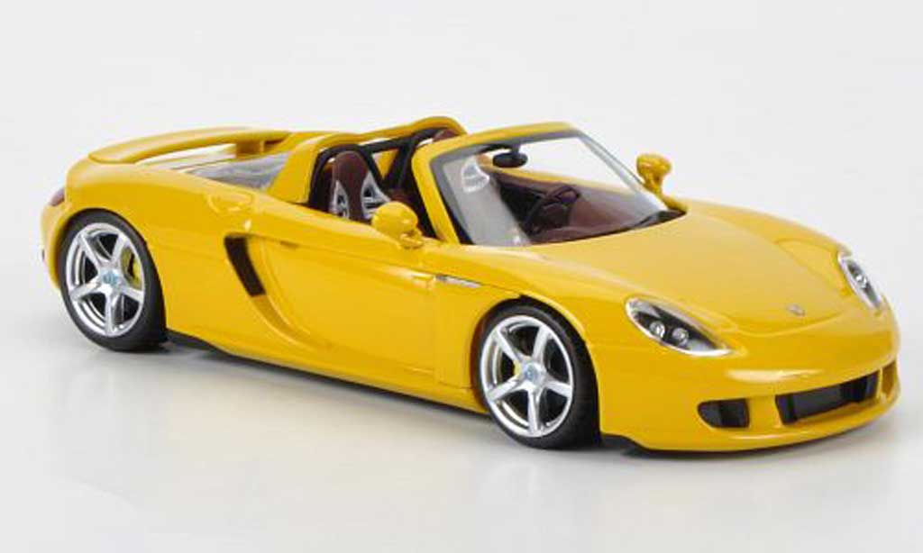 Porsche Carrera GT 1/43 Minichamps yellow 2003 diecast model cars