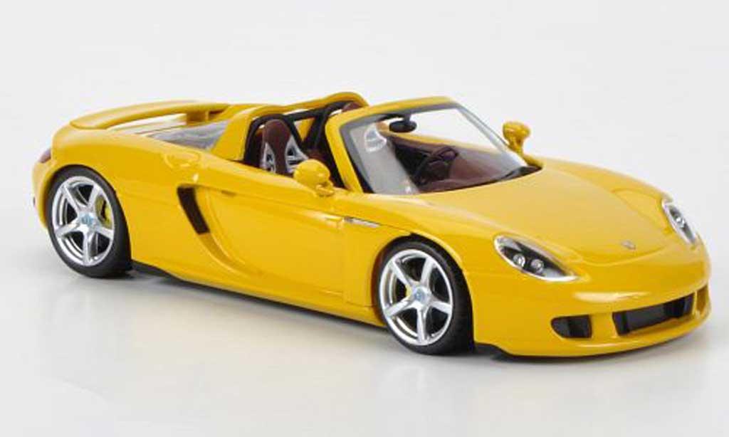 Porsche Carrera GT 1/43 Minichamps jaune 2003 miniature