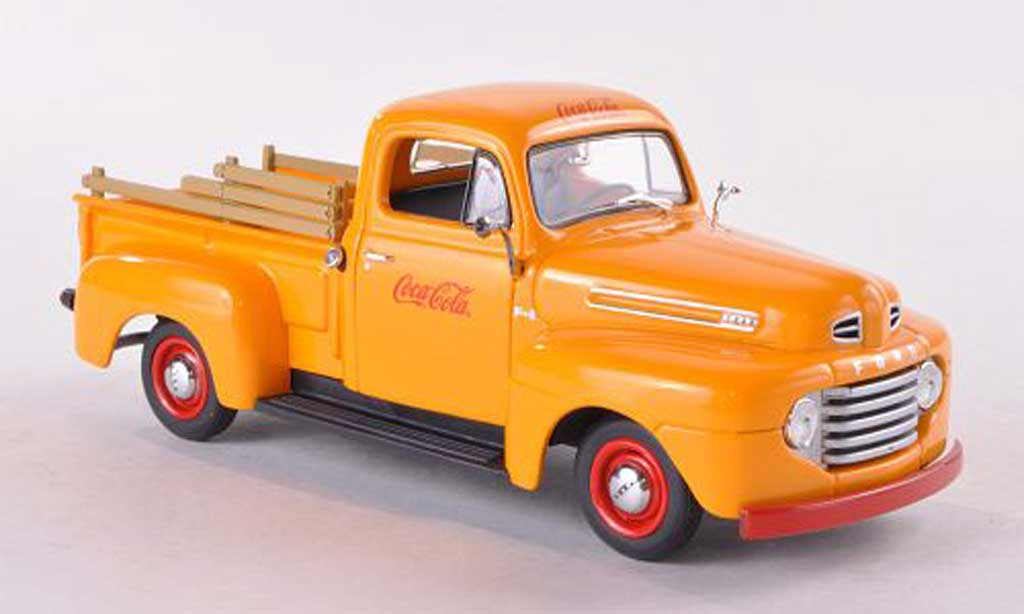 Ford F-1 1/43 Minichamps Pick Up Coca Cola yellow 1949 Coca Cola Collection diecast model cars