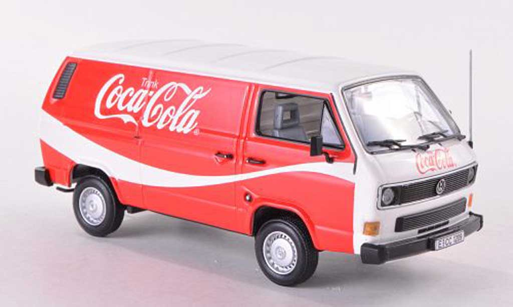 Volkswagen T3 A 1/43 Minichamps Kasten Coca Cola blanche/rouge 1983 Coca Cola Collection miniature