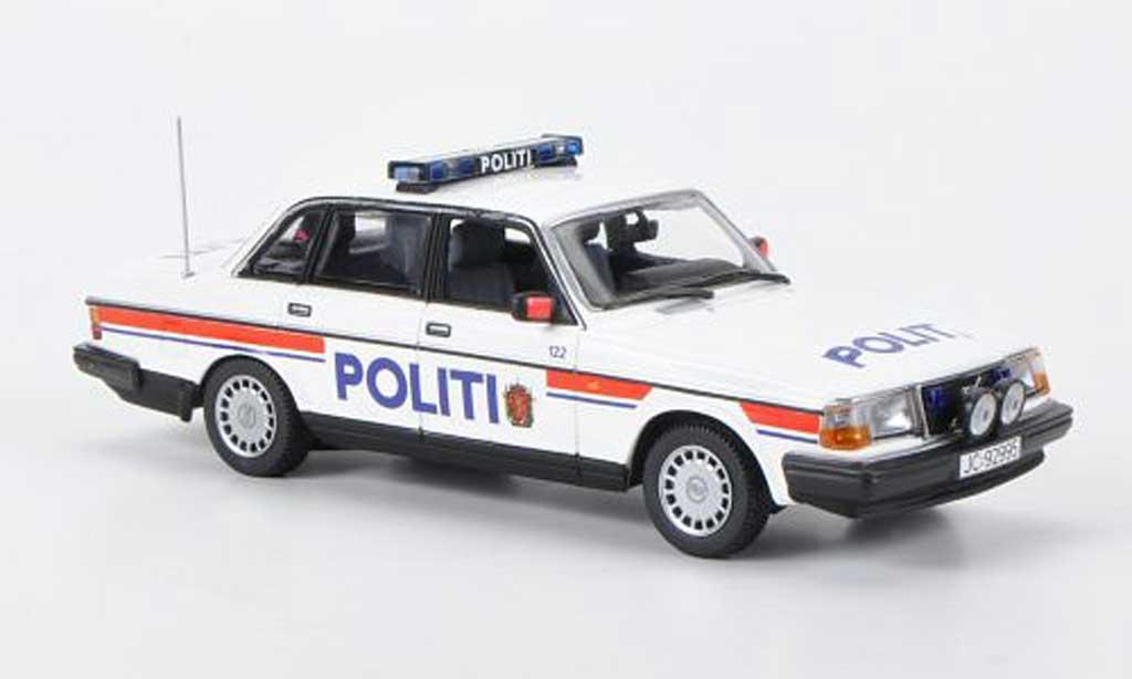 Volvo 240 GL 1/43 Minichamps Politi Polizei Norwegen 1986 miniature
