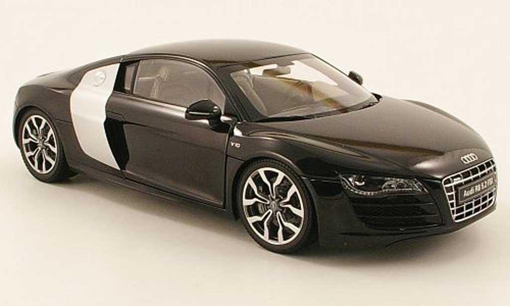 Audi R8 5.2 FSI 1/18 Kyosho quattro noire 2009 miniature