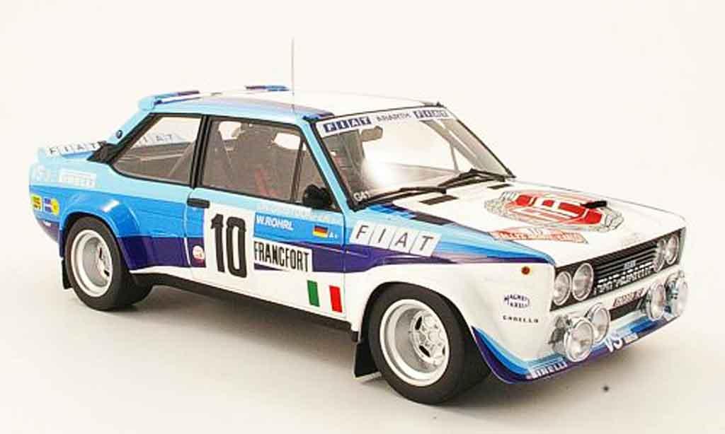 Fiat 131 Abarth 1/18 Kyosho no.10 sieger rallye monte carlo 1980 miniature