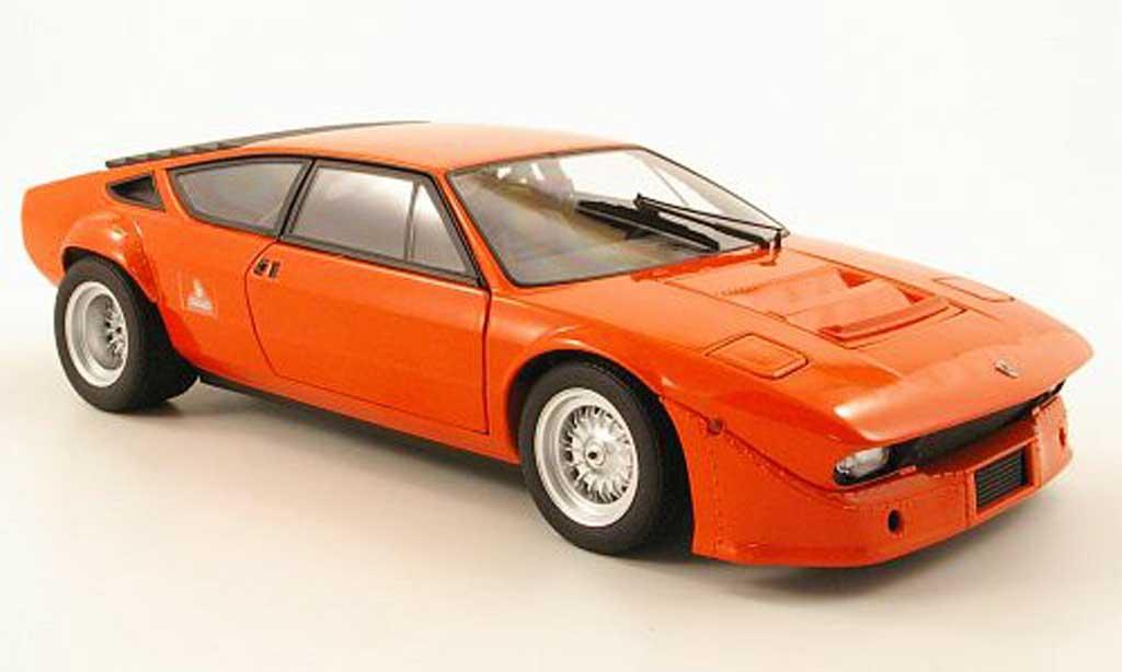Lamborghini Urraco 1/18 Kyosho rallye orange diecast model cars