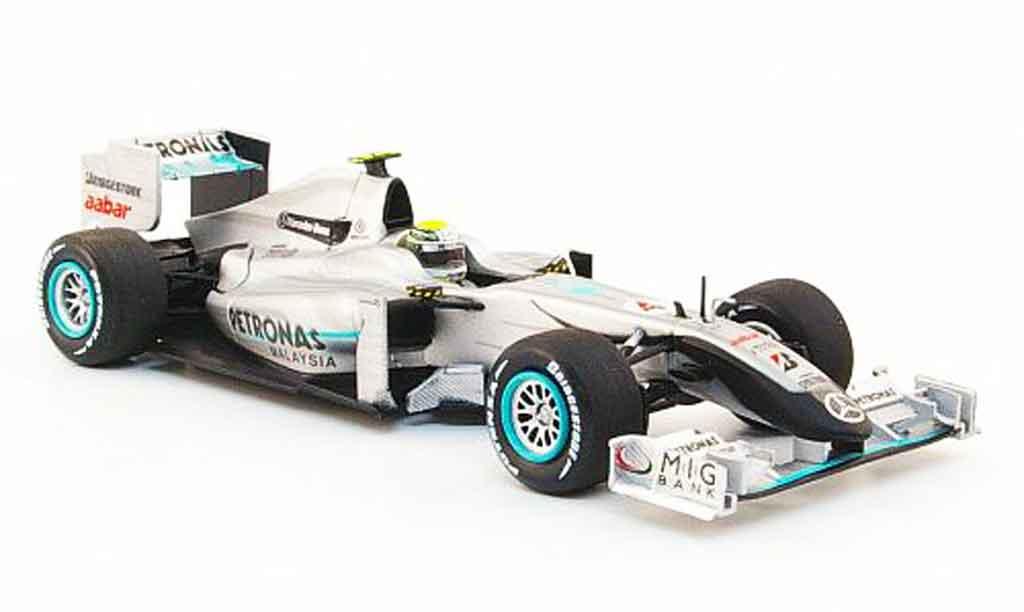 Mercedes F1 1/43 Minichamps GP No.4 Petronas N.Rosberg Showcar 2010 miniature