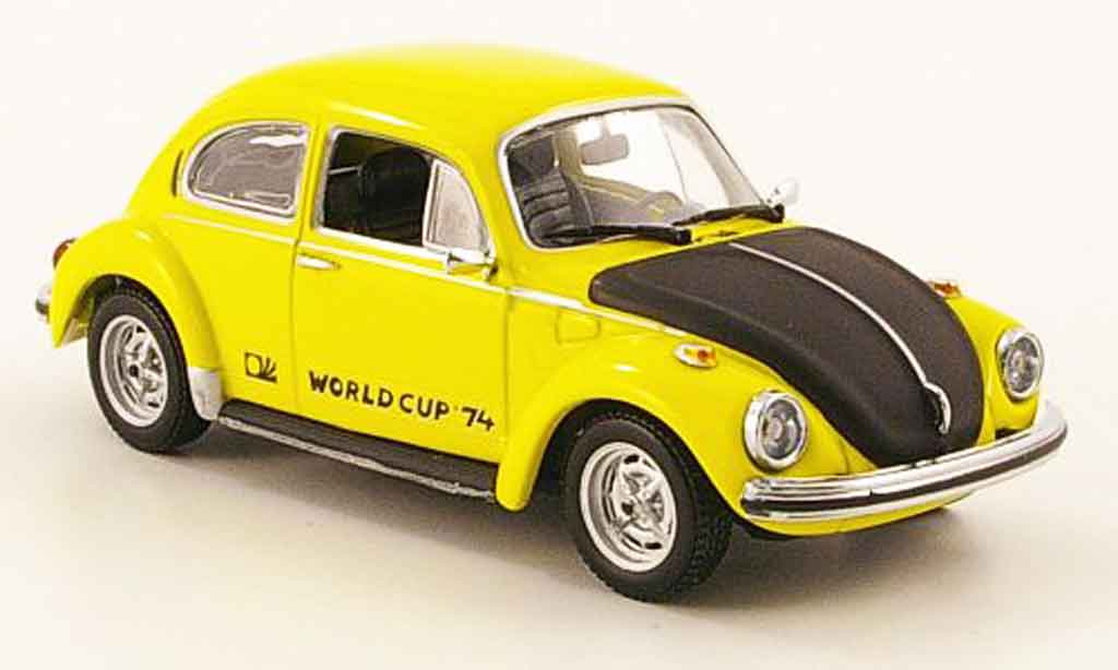 Volkswagen Coccinelle 1/43 Minichamps 1303 world cup jaune noire 1974 miniature