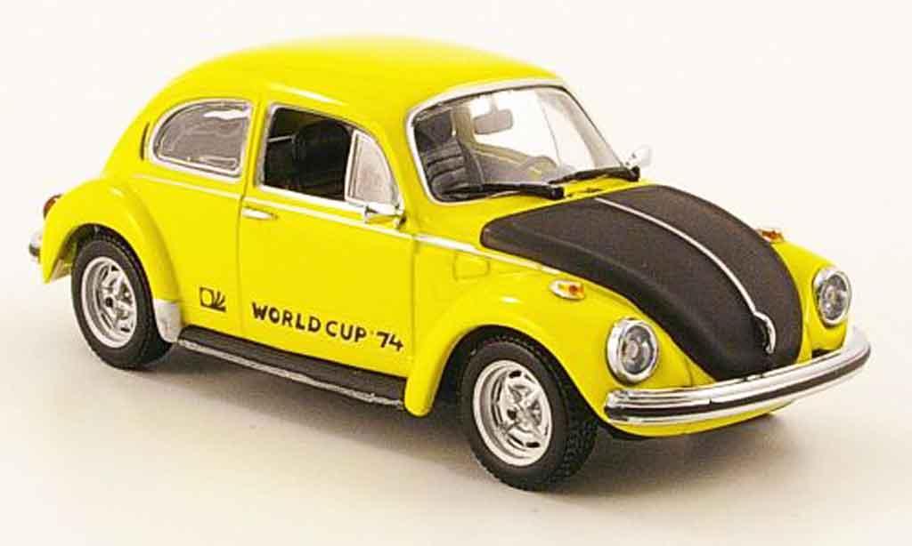 Volkswagen Coccinelle 1/43 Minichamps 1303 world cup yellow black 1974 diecast model cars