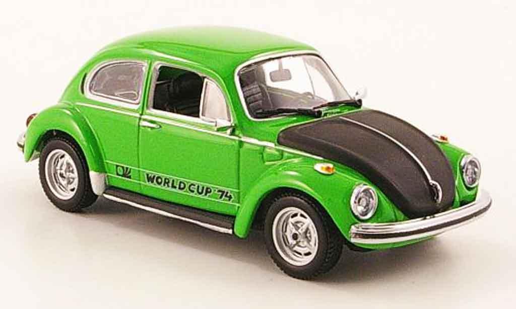 Volkswagen Coccinelle 1/43 Minichamps 1303 world cup grun black 1974 diecast model cars