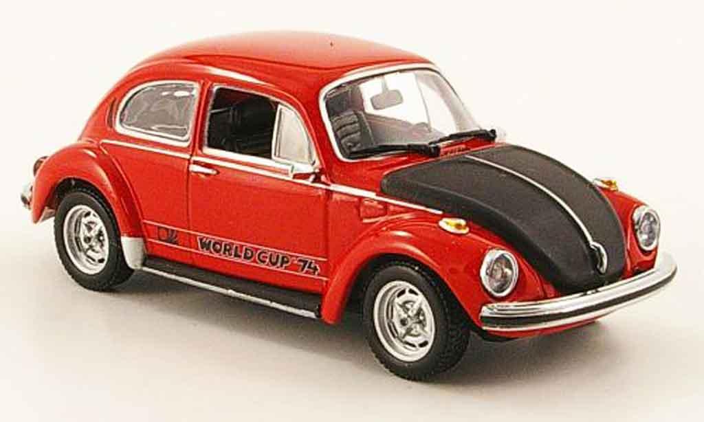 Volkswagen Coccinelle 1/43 Minichamps 1303 world cup rouge noire 1974 miniature