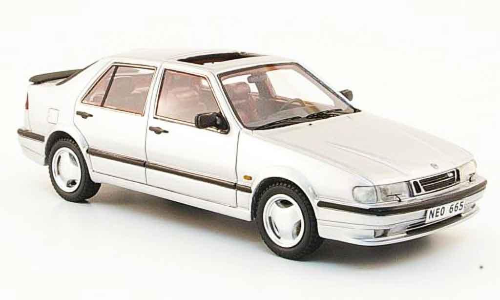Saab 9000 CS 1/43 Neo Aero grise metallisee 1995 miniature