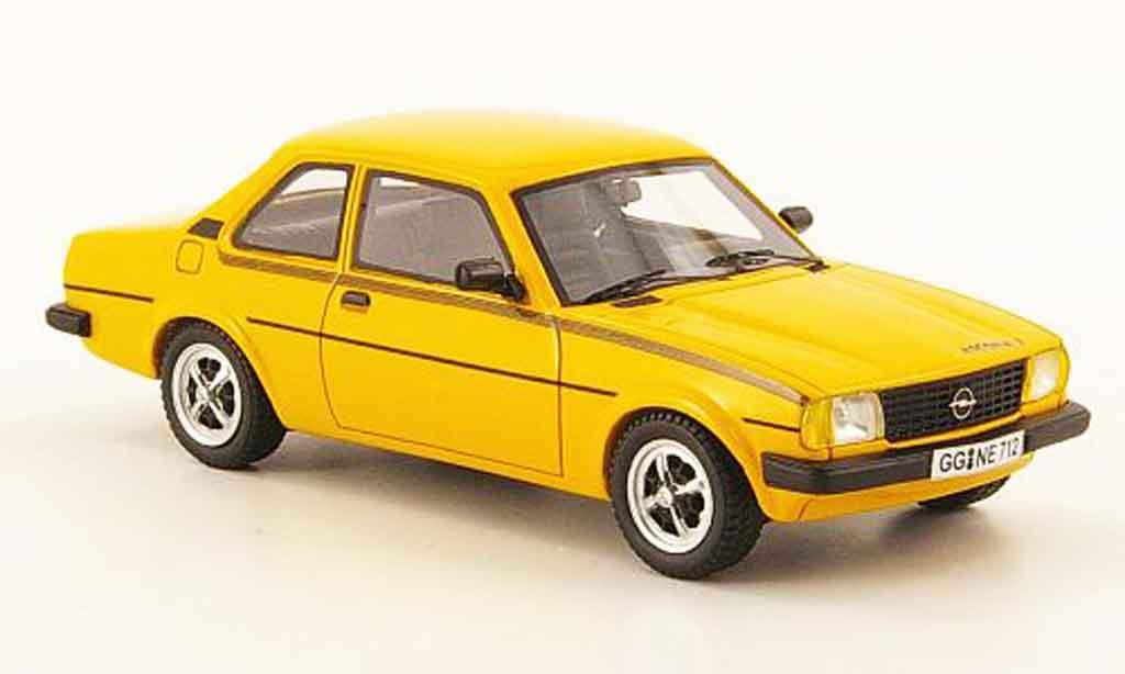Opel Ascona B 1/43 Neo 2.0 j jaune 1980 miniature