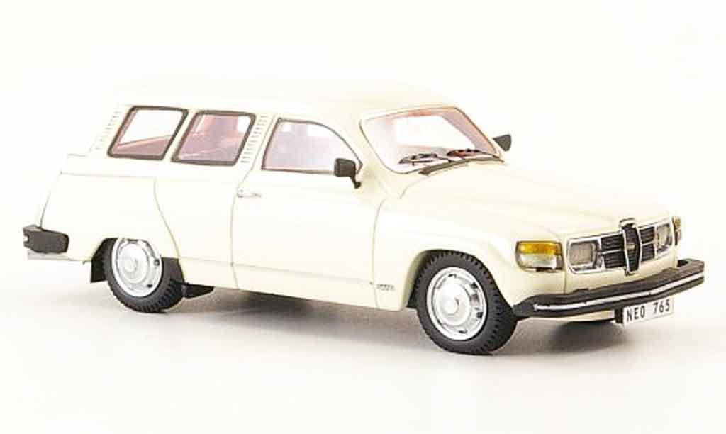 Saab 95 GL 1/43 Neo creme blanche 1979 miniature