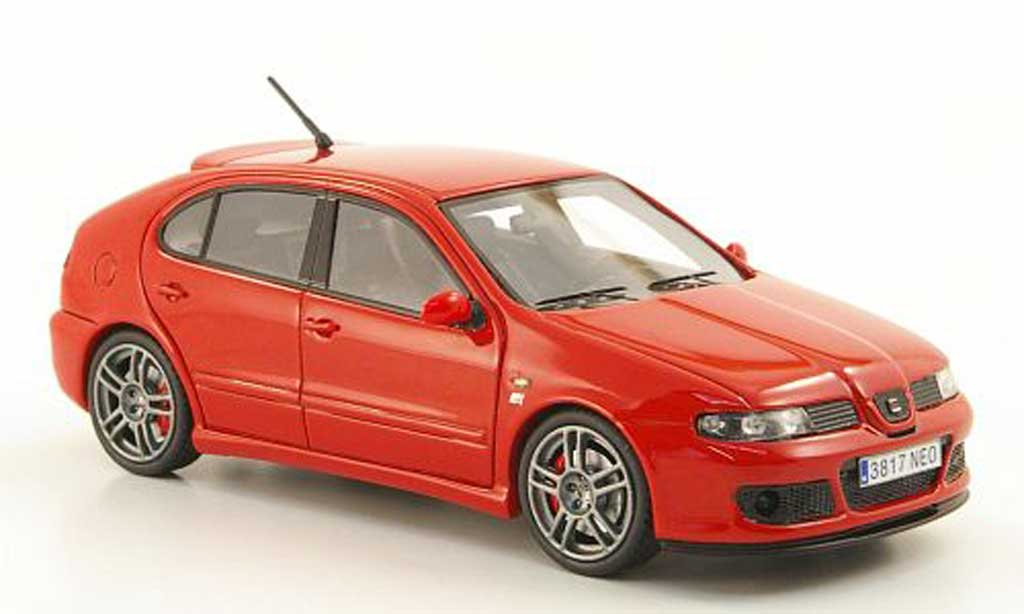 seat leon cupra miniature mk1 r rouge 2003 neo 1 43 voiture. Black Bedroom Furniture Sets. Home Design Ideas