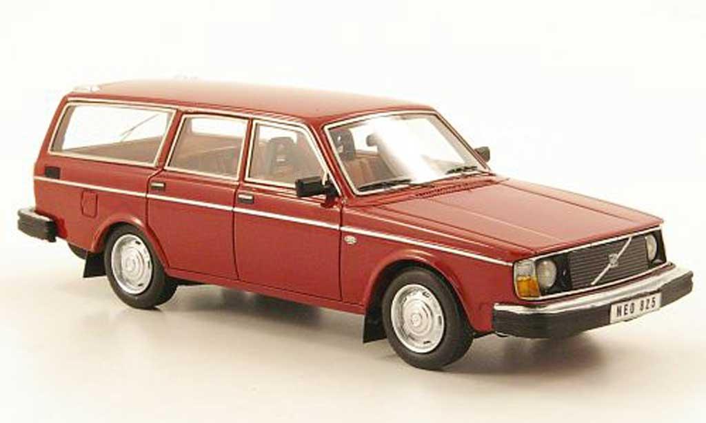 Volvo 245 1/43 Neo DL noire-rouge  1974 miniature