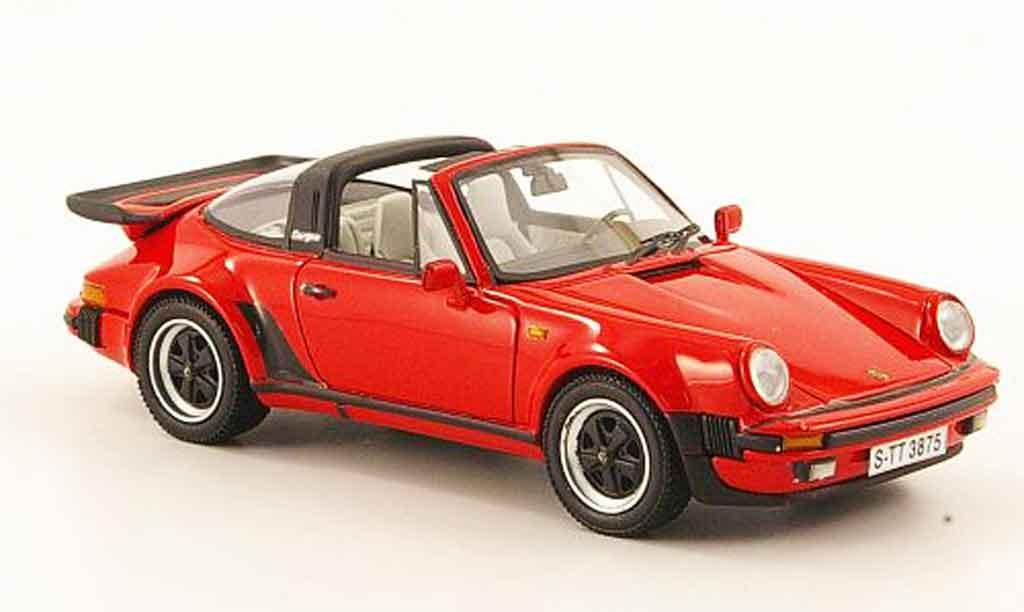 Porsche 930 Turbo 1/43 Neo Targa rouge 1982 miniature
