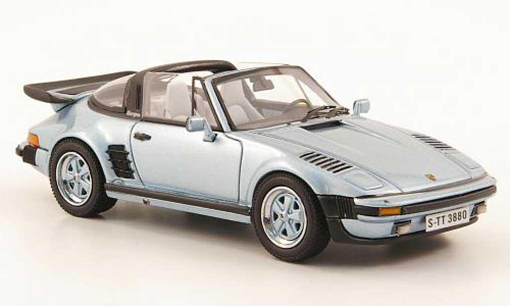 Porsche 930 Turbo 1/43 Neo SE Targa Flatnose bleu 1987 miniature