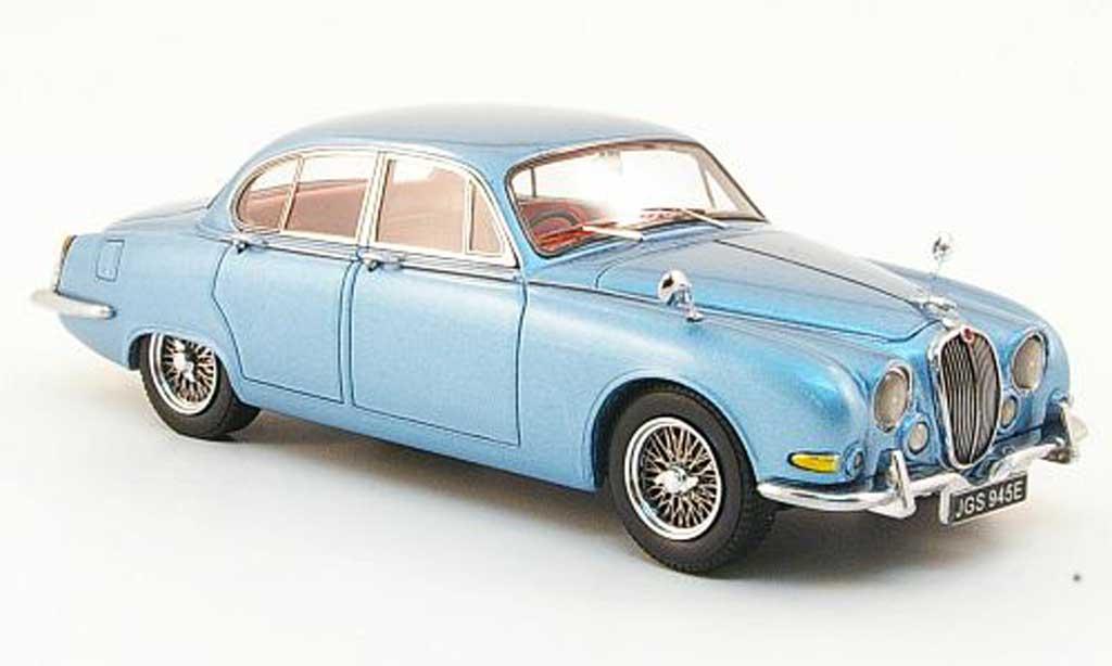 Jaguar S-Type 1/43 Neo 3.4 bleu clair 1965 miniature