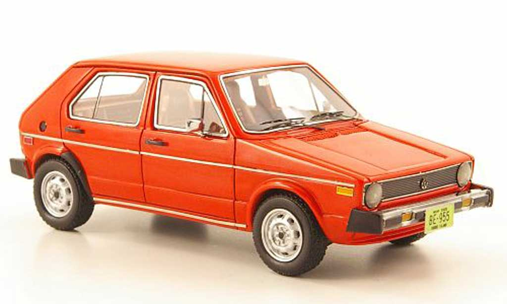 Volkswagen Golf 1 1/43 Neo Rabbit (US Golf I) 5-portes rot  1975 modellautos
