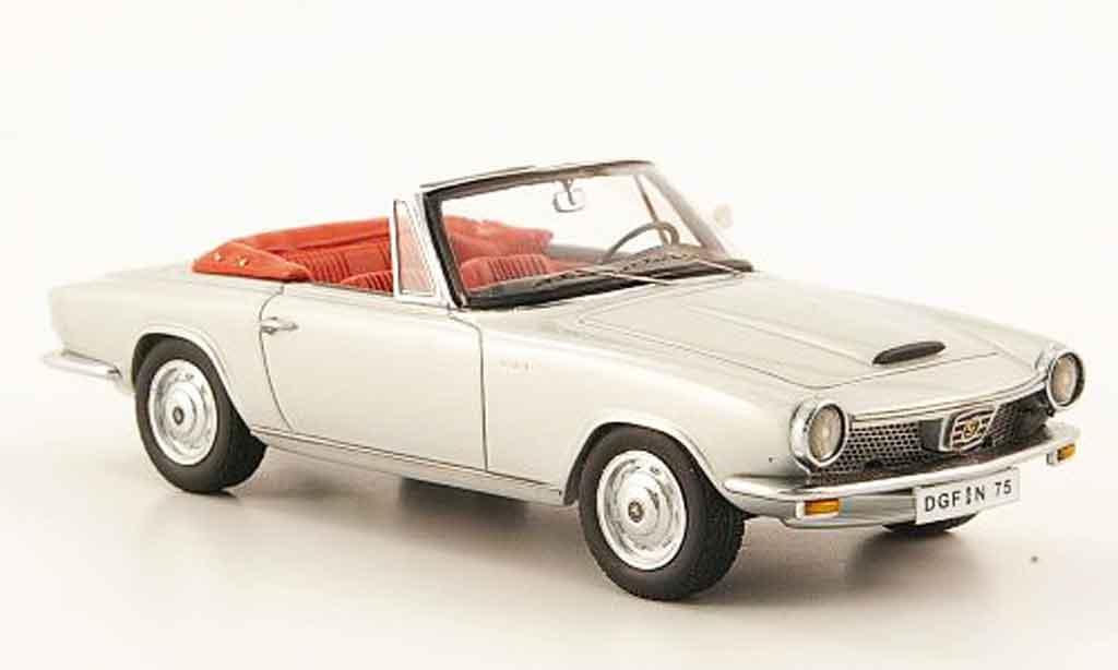 Glas 1300 1/43 Neo GT Cabriolet grise 1966 miniature