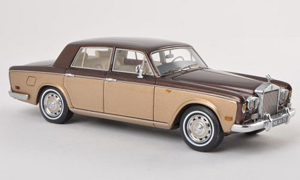 Rolls Royce Silver Shadow 1/43 Neo brun/griseore LHD 1974 miniature