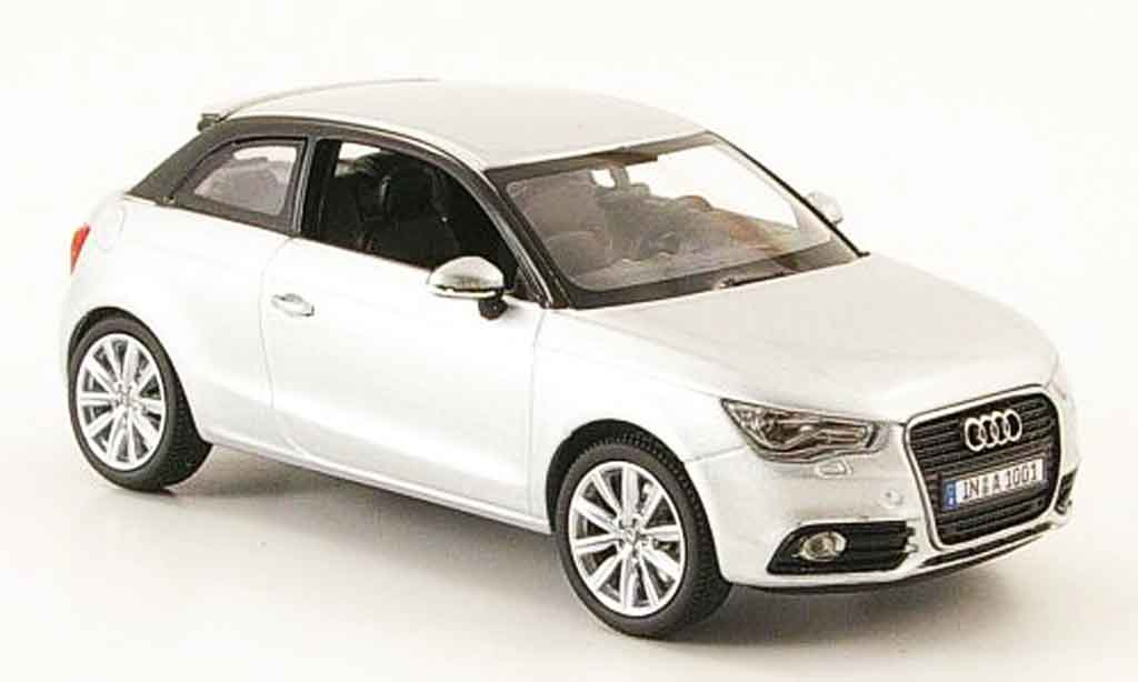 audi a1 miniature grise metallisee 2010 kyosho 1 43 voiture. Black Bedroom Furniture Sets. Home Design Ideas