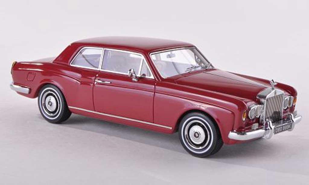 Rolls Royce Corniche 1/43 Neo FHC noire-rouge RHD 1971 miniature