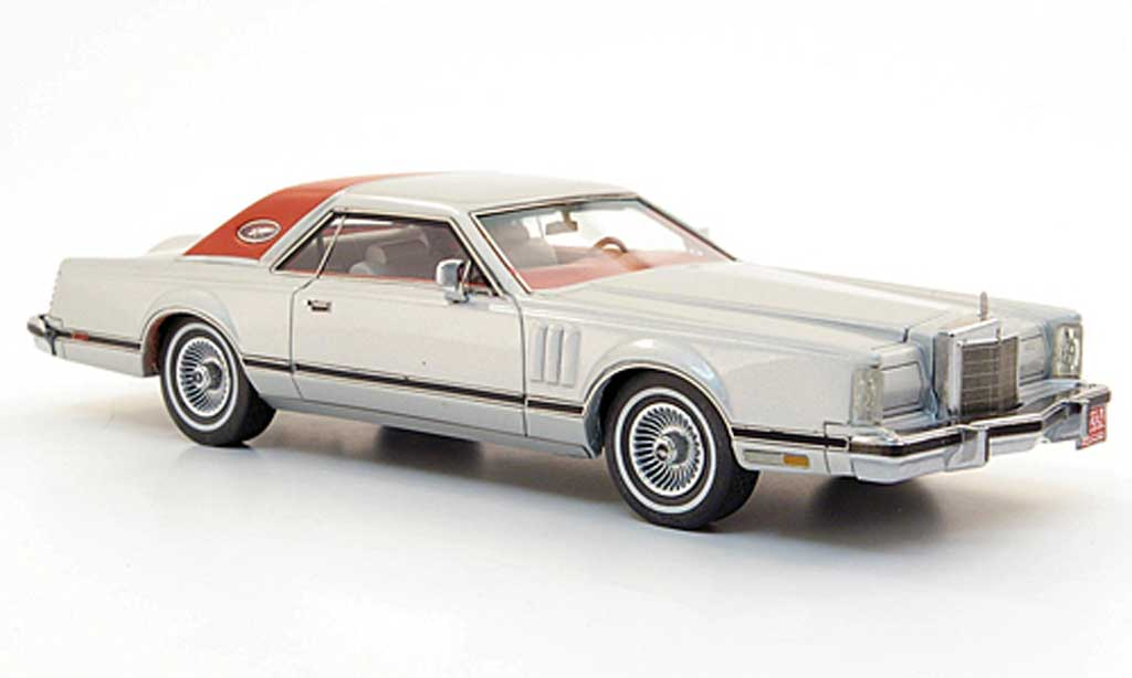Lincoln Continental 1978 1/43 Neo Mark V Coupe grise /rouge miniature