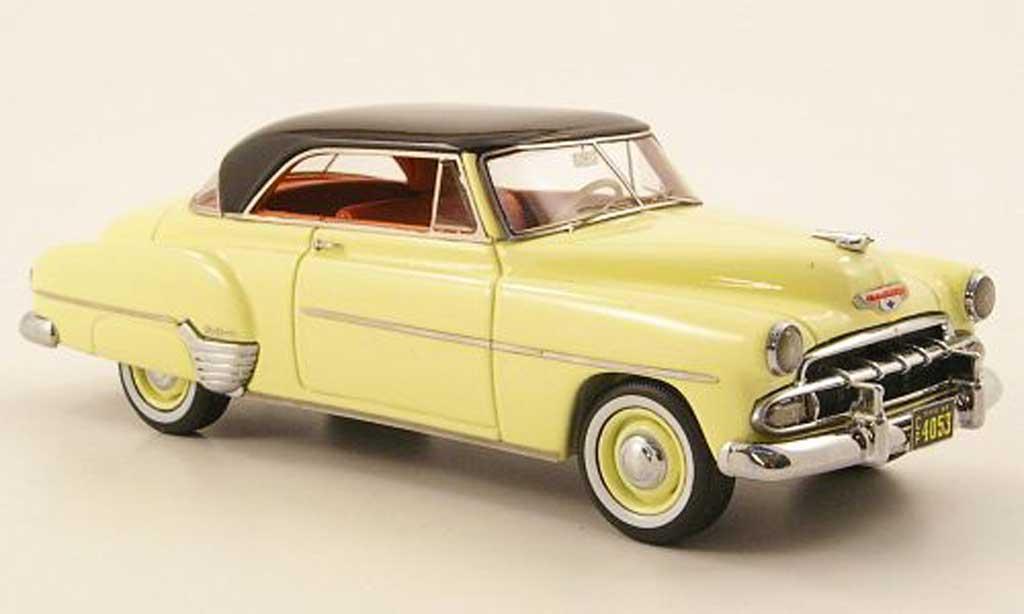 Chevrolet De Luxe 1/43 American Excellence HT Coupe jaune/noire lim. Aufl. 500 1952 miniature