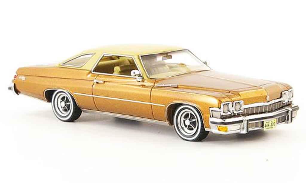 Buick Le Sabre 1/43 Neo HT Coupe marron beige 1974 miniature