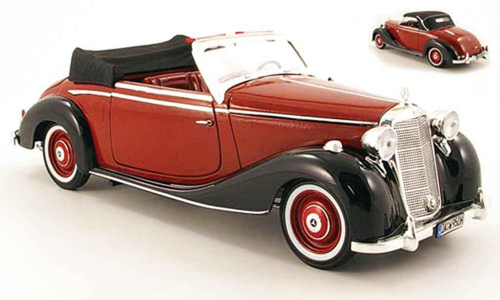 Mercedes 170 1/18 Signature s rouge/noire 1950 miniature