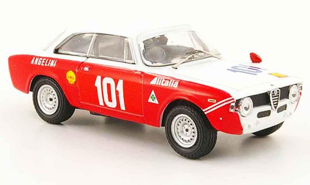 Alfa Romeo Giulia 1600 GTA 1/43 M4 no.101 targa florio 1971 miniature