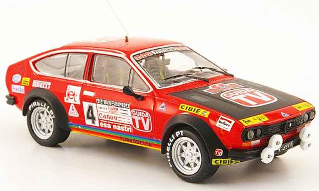 Alfa Romeo GT 1/43 M4 V 2.0 no.4 guida tv rallye em 1980 diecast model cars