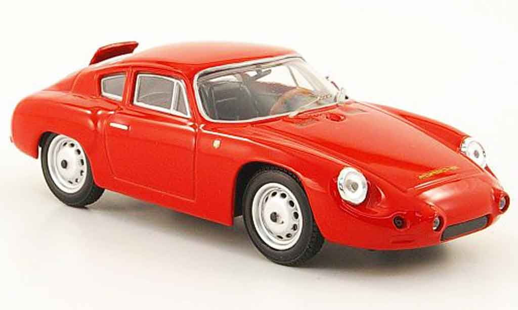 Porsche Abarth 1/43 Best roja Strassenversion 1960 miniatura
